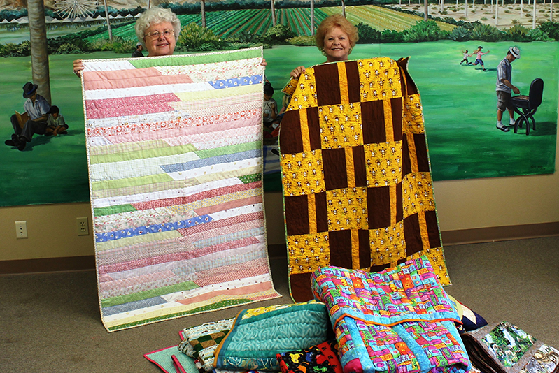Olive Crest Receives a Flood of Quilt Donations