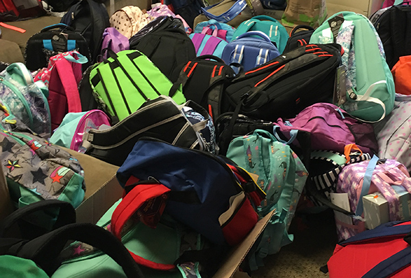 backpack drive, back to school, backpack donations, Olive Crest, Pacific Northwest