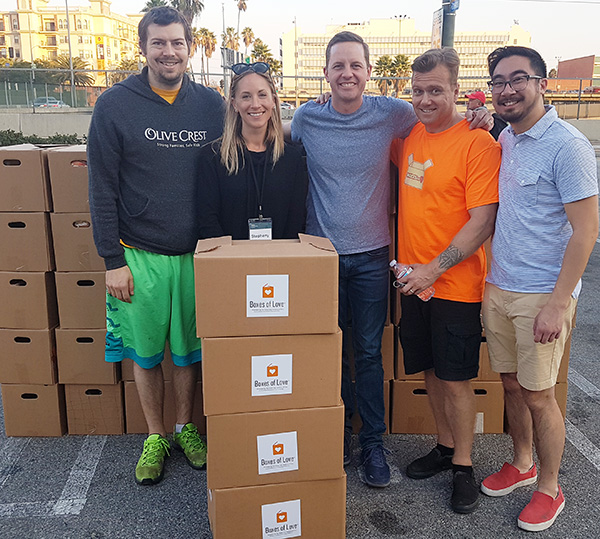 "Families in the Los Angeles Area Receive ""Boxes of Love"""